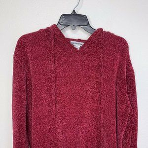 cotton emporium womens Wine red cable knit knitted